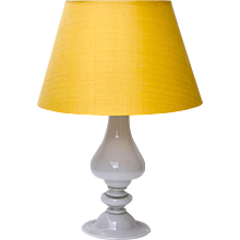 Venini White Lattimo Table Lamp, circa 1950